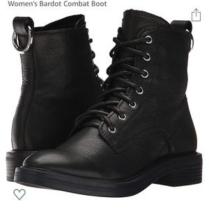 Dolce Vita Bardot black leather combat boots NWT